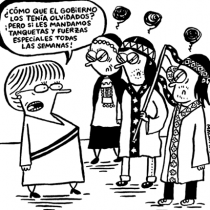 """Malaimagen sobre """"Dedocracia"""": """"El título resume la política actual en la cual la democracia es representativa y no participativa"""""""