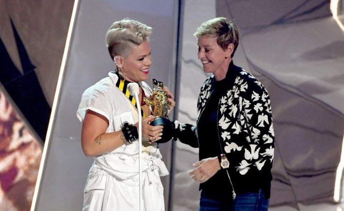 El conmovedor discurso de Pink en MTV para su hija que se sentía fea