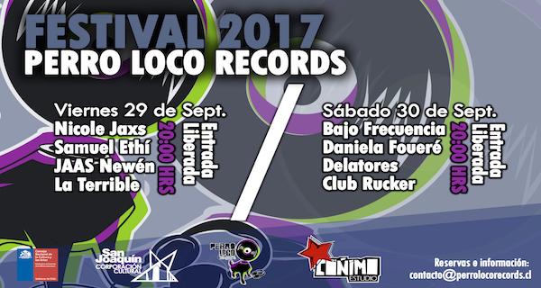 Festival Perro Loco Records en Centro Cultural San Joaquín. Entrada liberada