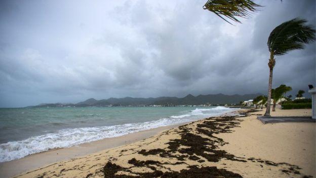 Un dominicano en Saint Martin: Irma
