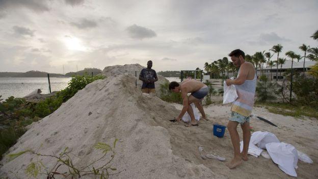 Huracán Irma cruzó sobre la isla de Barbudas