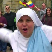 [VIDEO] María Valentina, la monja que le dedica un rap al papa Francisco por su llegada a Colombia