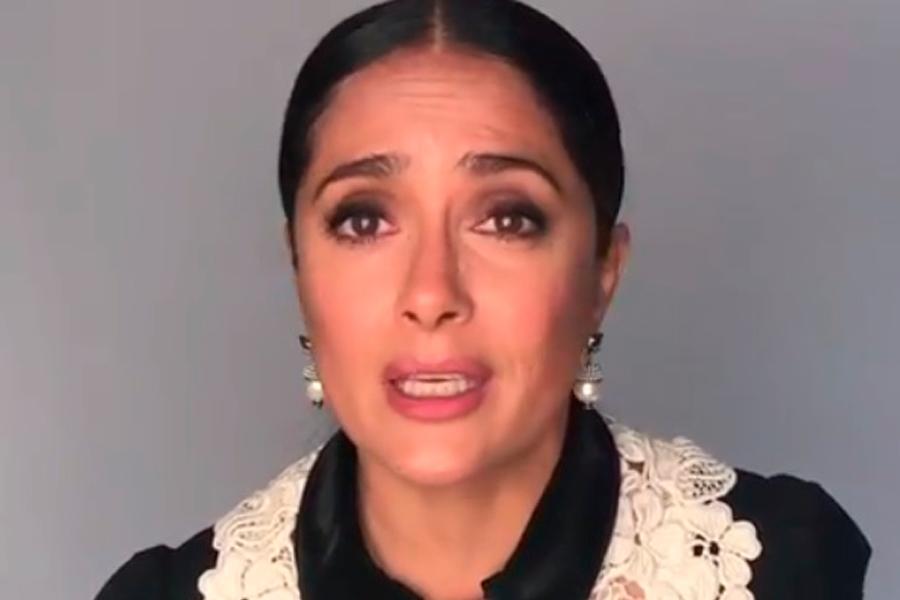 Salma Hayek inicia campaña para afectados por terremoto en México