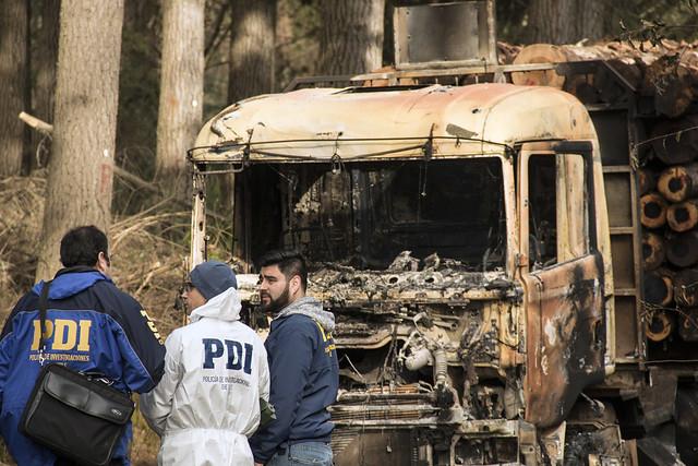 Designan fiscal preferente para investigar atentados a sitios de acopios de camiones y predios forestales
