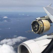 [VIDEO] La pesadilla del pasajero: registran turbina de avión que se desintegra en pleno vuelo