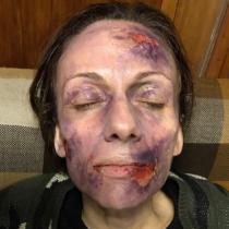 Katyna Huberman comparte escalofriantes imágenes del proceso de maquillaje de