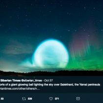 [VIDEO] Misil balístico ruso creó resplandor gigante en el cielo sobre Siberia