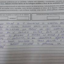 Elector acusó que le pasaron un voto marcado con Alejandro Guillier