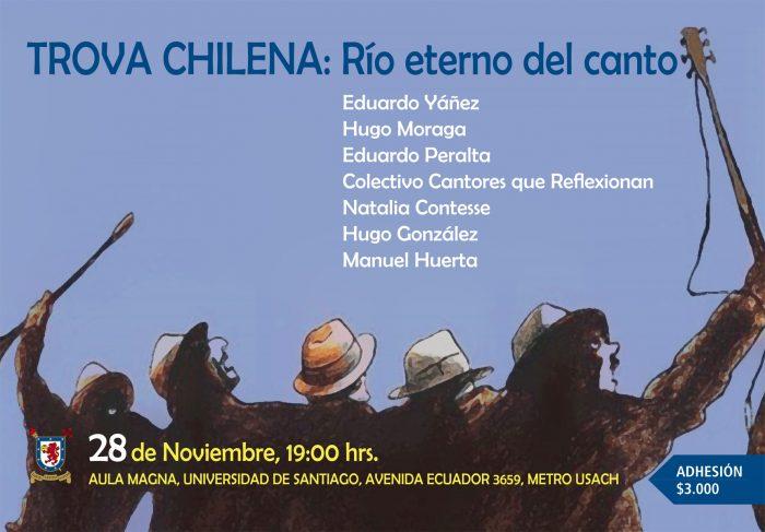 """Encuentro """"Trova chilena: río eterno del canto"""" reúne a importantes exponentes del canto popular"""