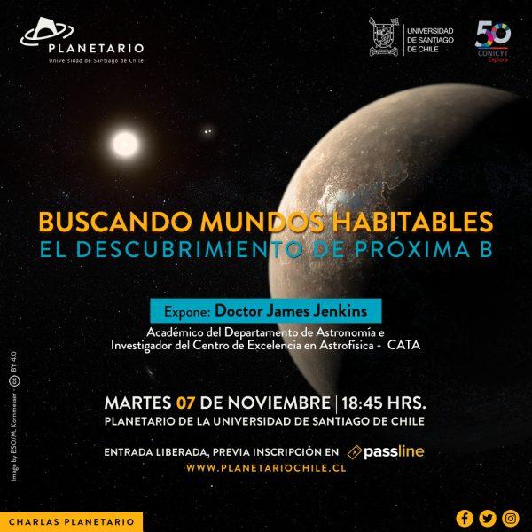 """Charla gratuita """"Buscando mundos habitables"""" en Planetario"""