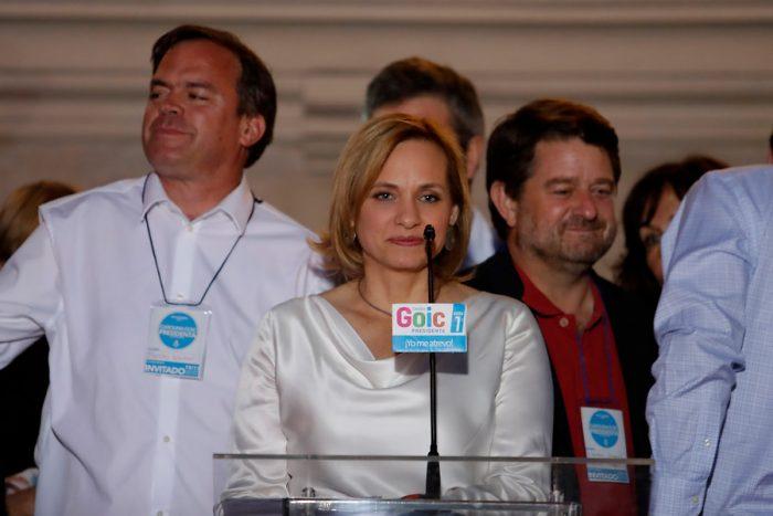 Carolina Goic reconoce derrota y anuncia que próximas definiciones de la DC serán
