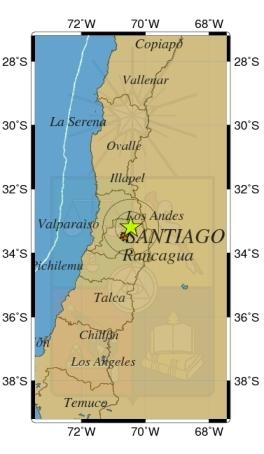 Leve sismo sacude la Región Metropolitana