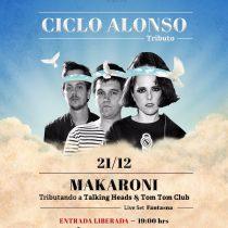Tributo de Makaroni a Talking Heads y Tom Tom Club en edificio Alonso
