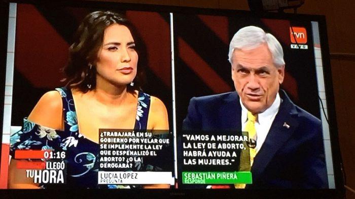 """Piñera elude responder si derogará Ley de Aborto en eventual gobierno, pero afirma que hará """"mejoras"""""""