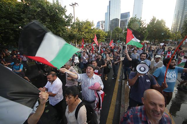 Protestan frente a la embajada de EEUU por decisión de Trump sobre Jerusalén