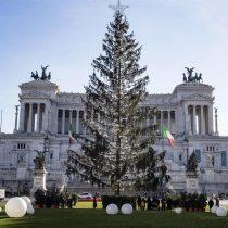 [VIDEO] El triste final del árbol de Navidad de Roma