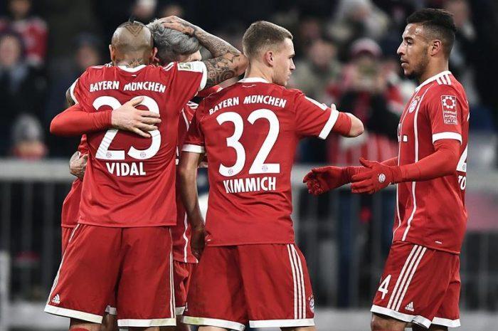 Con gol de Arturo Vidal: Bayern Munich vence al Hannover y se mantiene en la cima de la Bundesliga