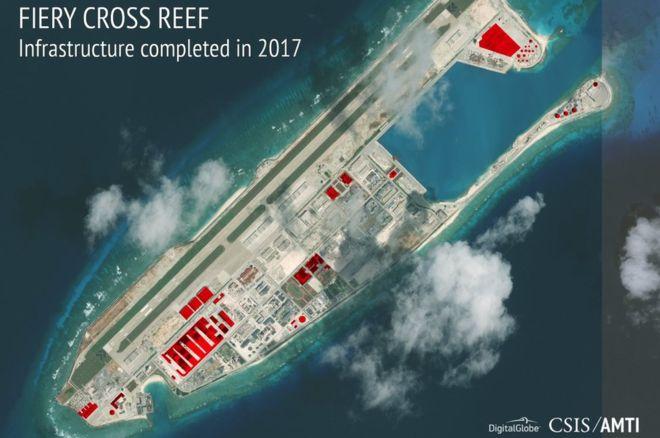 Las imágenes que muestran las impresionantes instalaciones militares que Beijing construye en tiempo récord en las islas del mar de China Meridional