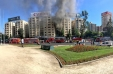 [VIDEO] Bomberos controla incendio en pleno local de Plaza Italia