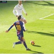 [VIDEOS] La genial asistencia descalza de Messi en la victoria del Barcelona sobre el Real Madrid