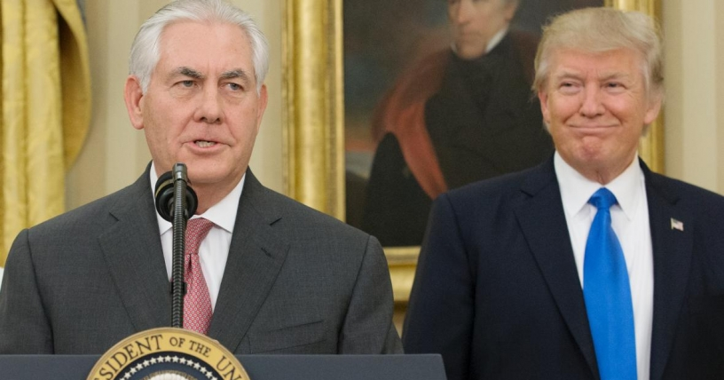 Trump destituye a Tillerson como secretario de Estado