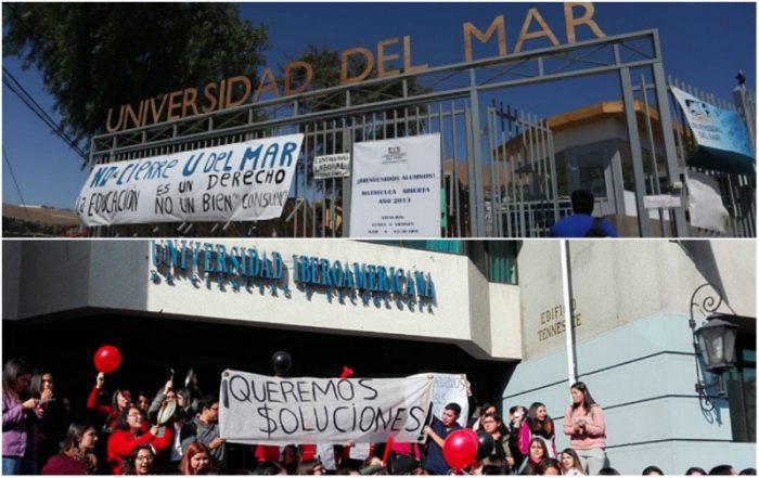 El castigo de estudiar: drama de los alumnos de la U. del Mar se repite en U. Iberoamericana que también corre el riesgo de cerrar