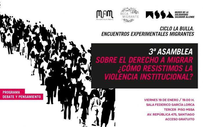 Diálogo sobre la violencia institucional y migraciónen Museo de la Solidaridad Salvador Allende
