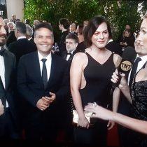 """Daniela Vega se luce con negro diseño chileno en los Globos de Oro: """"En favor de las mujeres del mundo"""""""