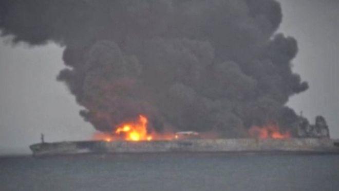 Buque petrolero con bandera de Panamá frente a China está