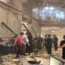 [VIDEO] Caída de la bolsa: piso lleno de gente colapsa en la Bolsa de Indonesia