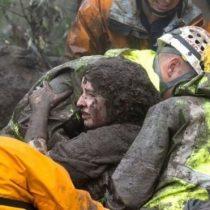 Las impresionantes imágenes de los deslaves que dejaron al menos 15 muertos en el sur de California
