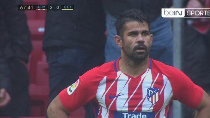 [VIDEOS] Héroe a villano: Diego Costa anota su primer gol como local por el Atlético de Madrid y es expulsado por celebrar