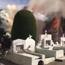 [VIDEO] Individuos queman históricos cipreses del cementerio de Punta Arenas