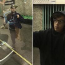 [VIDEO] Graban a dos jóvenes graffiteros rayando vagones del Metro de Santiago