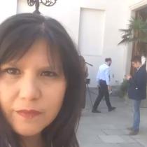[VIDEO] Marcela Jiménez informa desde La Moneda la llegada del General Bruno Villalobos