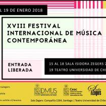 Festival Internacional de Música Contemporánea en Sala Isidora Zegers