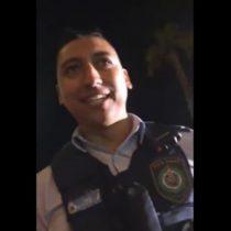[VIDEO] El mito es cierto: policia sorprende con tradicional garabato chileno a banda nacional que tocaba en Australia