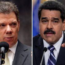 Santos pide a Maduro que no use a Colombia para