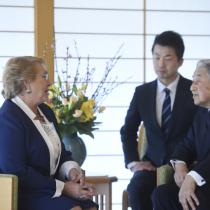 Emperador de Japón recibe a la Presidenta Bachelet
