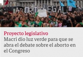 Congreso argentino se abre a debate de aborto legal