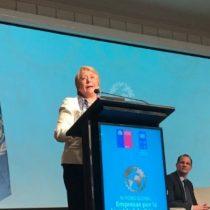 """Bachelet: """"Para avanzar hacia el desarrollo sostenible hay que reducir las desigualdades de género"""""""