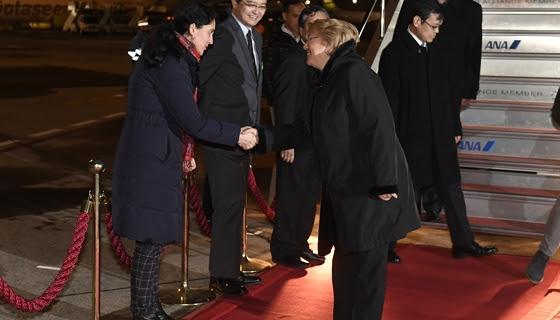 La última gira presidencial: Bachelet arriba a Tokio para iniciar visita oficial de Trabajo