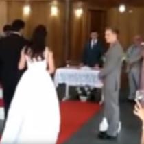 [VIDEO] Los gemidos atacan de nuevo: popular broma interrumpe una boda en Brasil