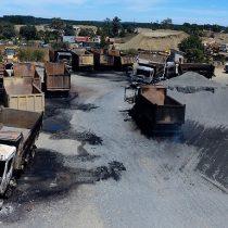 Gobierno informa que se querellará por quema de camiones en La Araucanía