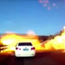 [VIDEO] Autopista china se convierte en un infierno producto de un derrame de gas licuado