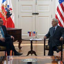 Presidente Piñera y ministro de Hacienda recibieron al secretario del tesoro de EE.UU.