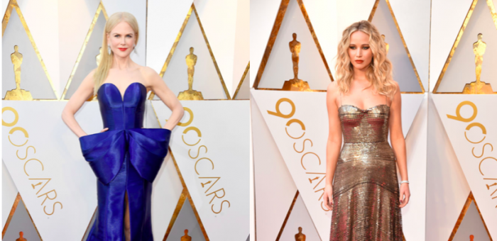 Nicole Kidman o Jennifer Lawrence: ¿Quién marcó más tendencia en la alfombra roja de los Oscar 2018?