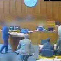 [VIDEO] Estados Unidos: matan a mafioso que intentaba atacar a un testigo durante un juicio