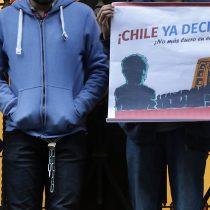 Estudiantes se manifiestan frente al Tribunal Constitucional contra el lucro en la educación