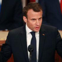 El discurso antinacionalista del presidente francés, Emmanuel Macron, ante el Congreso de Estados Unidos